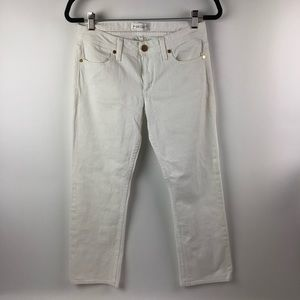 HABITUAL cropped white jeans